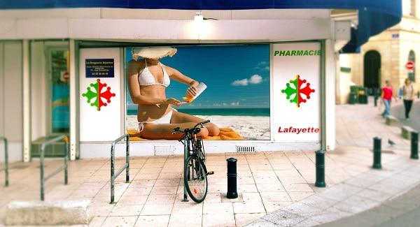 Ecran led 6mm vitrine pharmacie