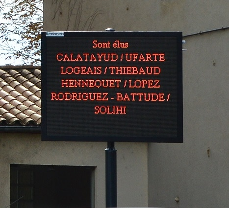 Ecran pour Mairie avec texte