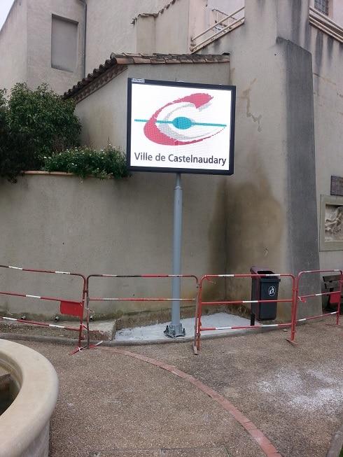Panneau lumineux Castelnaudary