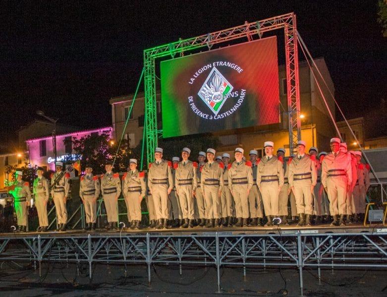Ecran Ledoneo pour les 40 ans de présence de la Légion à Castelnaudary