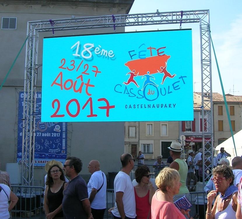 Location écran géant pour la fête du Cassoulet 2017